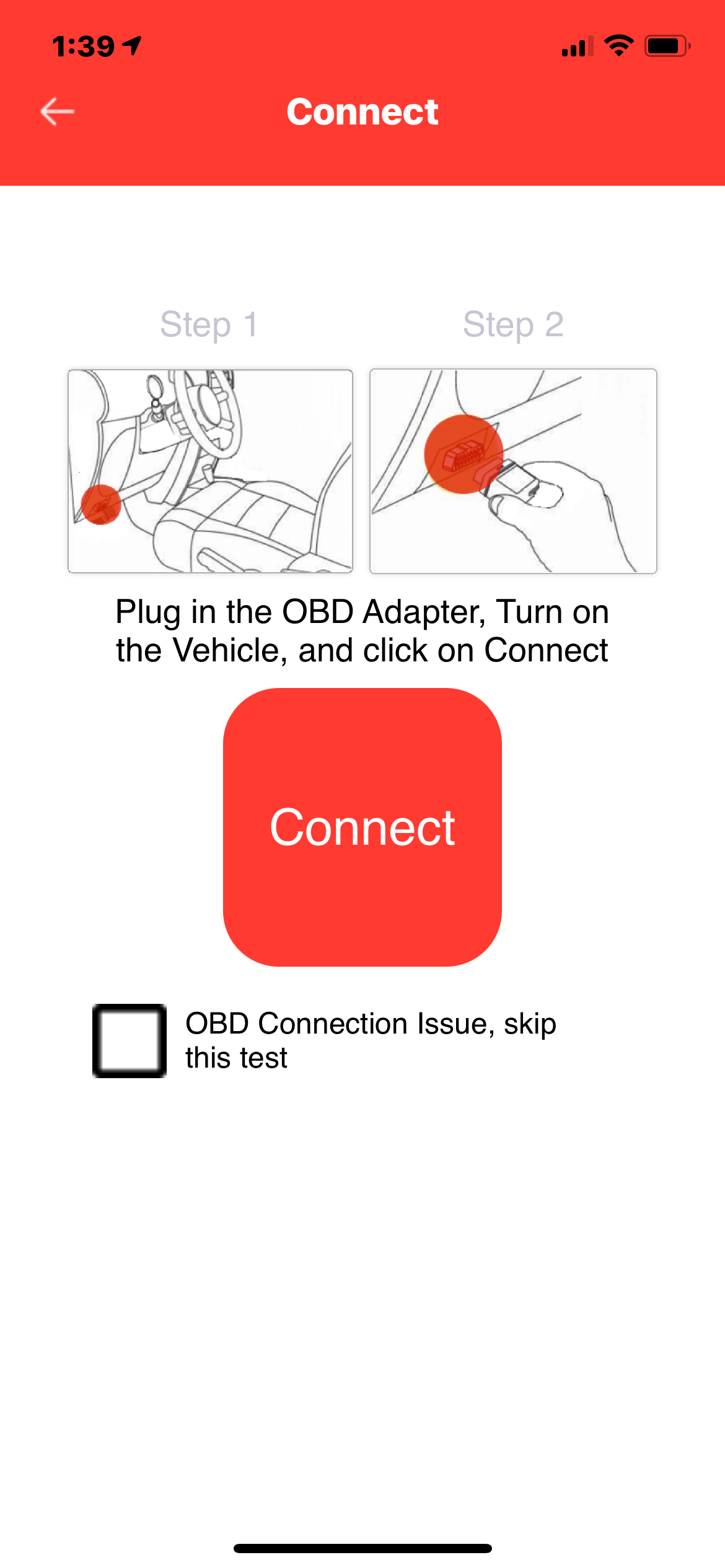 Vehicle Appraisal App - OBD Connection